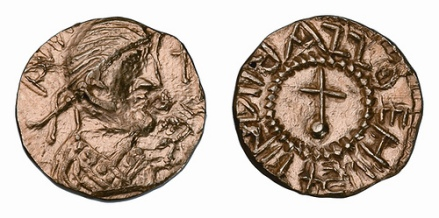 Anglo-Saxon gold Shilling of King Eadbald of Kent dating from c.620-635. This is the first gold coin struck in the name of an English King and a rare and important piece of English history. Found near Deal Kent in 2010