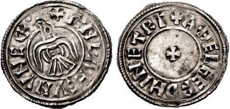 Anglo-Viking (Hiberno-Norse Northumbria). Anlaf Guthfrithsson. 939-941. Silver Penny, York mint; Athelferd, moneyer