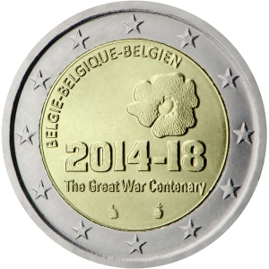 Belgium 2015 special €2 commemorative coin - Centenary of the start of the First World War