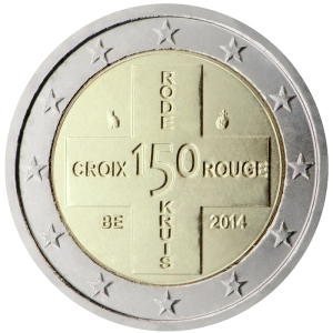Belgium 2015 special €2 commemorative coin - 150 years of the Belgian Red Cross