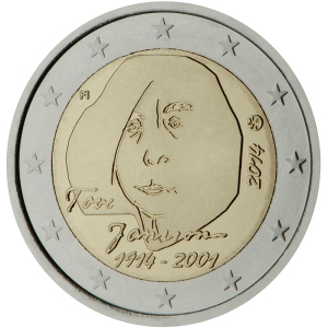 Finland 2015 special €2 commemorative coin - 100th Anniversary of the birth of author and artist Tove Jansson