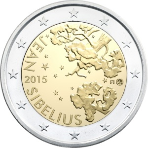Finland special €2 commemorative 2015 - The 150th anniversary of the birth of composer Jean Sibelius