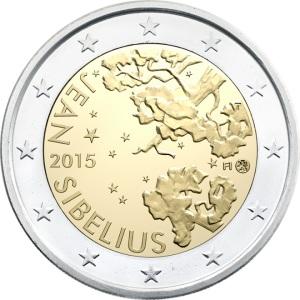 Finland special €2 commemorative 2015 - The 150th anniversary of the birth of composer Jean Sibelius