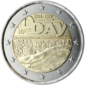 France 2015 special €2 commemorative coin - 70th anniversary of the Normandy landings of 6 June 1944