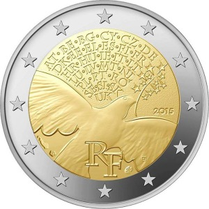 France special €2 commemorative coin 2015 - Europe building peace and security since 1945