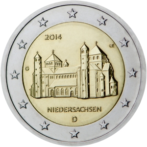 Germany: €2 commemorative 2014 - Niedersachsen from the 'Lander' series