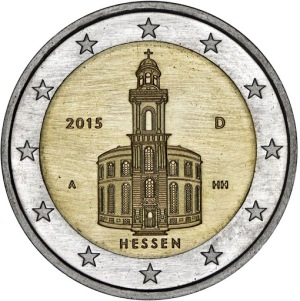 Germany commemorative €2 coin 2015 Hessen