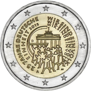 Germany special €2 commemorative coin - 25 years of German Unity
