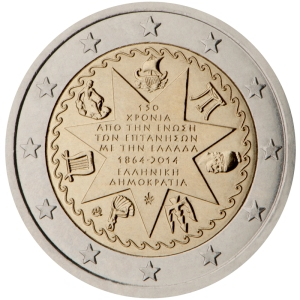 Greece 2015 special €2 commemorative coin - 150th anniversary of the union of the Ionian Islands with Greece (1864-2014)