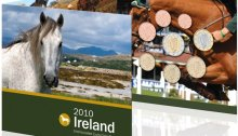 IRELAND Official Euro Coin Set 2010 BU Irish Animals (Horse) inside