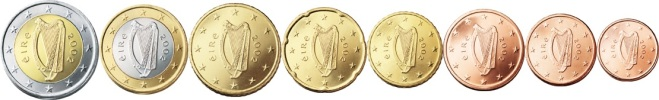 Ireland - Euro coins. The Old Currency Exchange is Ireland's leading retailer for collectible banknotes, coins and tokens. best good shop for Irish coins and banknotes, Dublin, Ireland