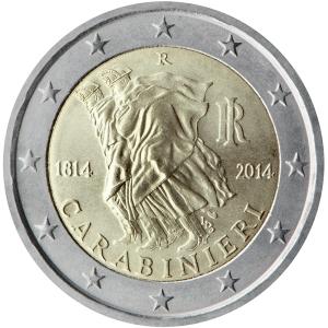 Italy 2015 special €2 commemorative coin - 200th Anniversary of the foundation of Arma dei Carabinieri