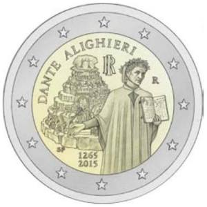 Italy commemorative €2 commemorative coin 2015 - 750th anniversary of the birth of Dante Alighieri 1265-2015