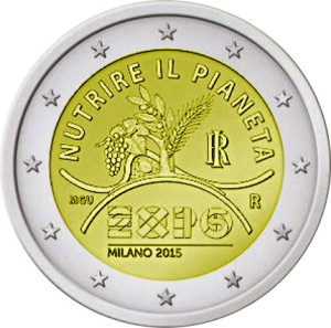 Italy special €2 commemorative coin - World Expo in Milan in 2015