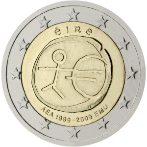 Ireland's second commemorative €2 coin - issued jointly by all 16 Euro Zone member states in 2009