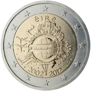 Ireland's third commemorative €2 coin - issued jointly by all 17 Euro Zone member states in 2012