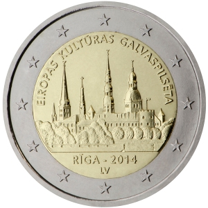 Latvia 2015 special €2 commemorative coin - Riga — European Capital of Culture 2014
