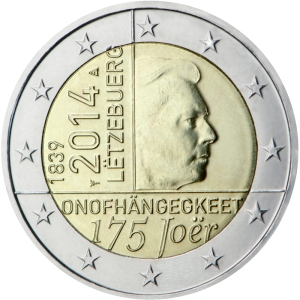 Luxembourg 2014 commemorative €2 - 175th anniversary of the independence of the Grand-Duchy of Luxembourg