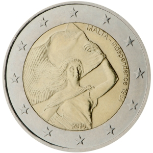 Malta 2015 special €2 commemorative coin - Malta Independence 1964