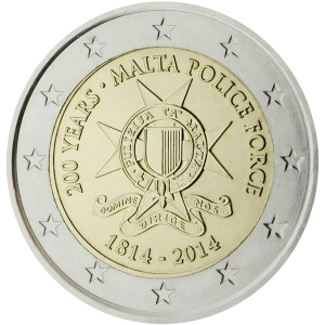 Malta 2015 special €2 commemorative coin - 200 years of Malta Police Force