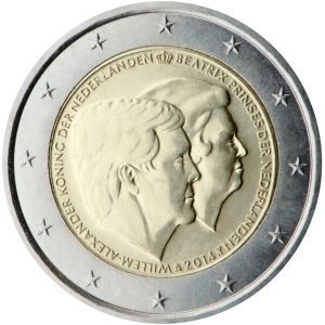 Netherlands 2015 special €2 commemorative coin - The official farewell to the former Queen Beatrix