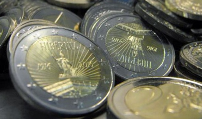 New €2 coins commemorating the 1916 Easter Rising - the Central Bank say members of the public can expect to see them in the coming weeks