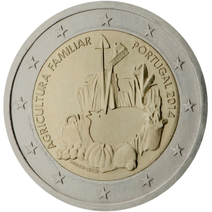 Portugal 2015 special €2 commemorative coin - The International Year of Family Farming