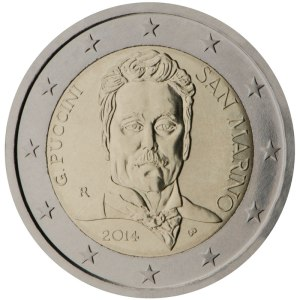 San Marino 2015 special €2 commemorative coin - 90th anniversary of the death of Giacomo Puccini