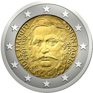 Slovakia commemorative €2 coin 2015 - 200th Anniversary of the Birth of Ľudovít Štúr