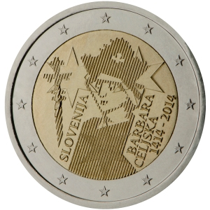 Slovenia 2015 special €2 commemorative coin - The 600th anniversary of the crowning of Barbara Celjska