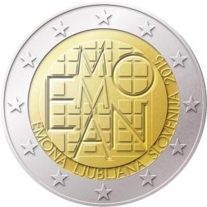 Slovenia special €2 commemorative coin - Emona-Ljubljana