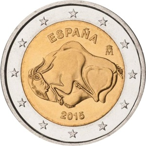 Spain commemorative €2 coin 2015 - UNESCO's World Cultural and Natural Heritage Sites — Cave of Altamira
