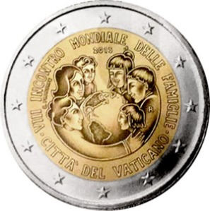 Vatican commemorative €2 coin 2015 - VIII World Meeting of Families to be held in Philadelphia 22-27 September 2015