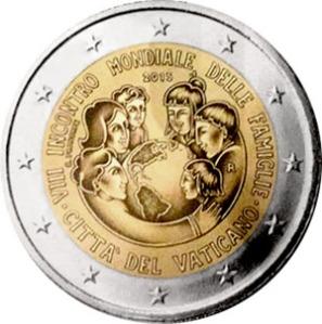 Vatican commemorative €2 coin 2015 - VIII World Meeting of Families to be held in Philadelphia 22-27 September 2015