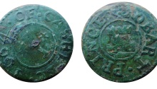 1664 trade token Robart Prince of Cashel, Co Tipperary