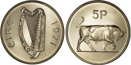 1971 Ireland 5p