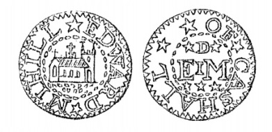 Aquilla Smith's engraving of Edward Mihill's penny token (Cashel)