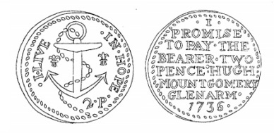Aquilla Smith's engraving of Hugh Montgomery's token