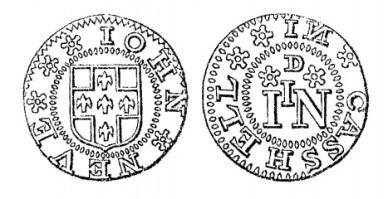 Aquilla Smith's engraving of John Neve's penny token (Cashel)