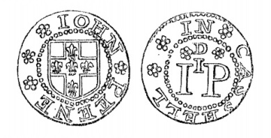 Aquilla Smith's engraving of John Peene's penny token (Cashel)