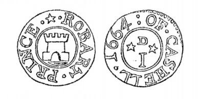 Aquilla Smith's engraving of Robert Prince's penny token (Cashel)