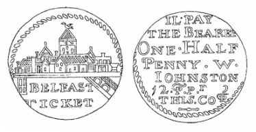 Aquilla Smith's engraving of William Johnston's token