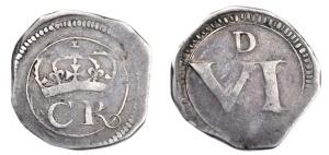 Ormonde Money Sixpence (1643-44)