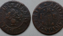 The trade token of Dublin, Henry Bollardt, dated 1654