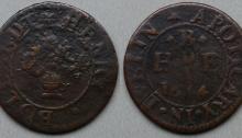 The trade token of Dublin, Henry Bollardt, dated 1654