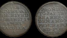 Dublin, James Maculla, Halfpenny, 1729, legend both sides