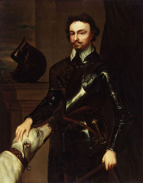 Thomas Wentworth, 1st Earl of Strafford, by Sir Anthony Van Dyck (died 1641), National Portrait Gallery, London. Wentworth was appointed Lord Deputy of Ireland in 1632 and his main purpose, openly proclaimed, was to rule Ireland well in order to supply men and money to the King. He would make the country prosperous in order to wring from it abundant taxes for his sovereign; but he aimed at its entire submission and the transference of what remained of Irish soil to English owners. And so well did he succeed that he was able to boast at the end of his term of office that he had left the country prospering, its debts paid, its revenues increased, the army paid and disciplined, the poor relieved, the rich awed, and justice done to all alike. This said, his disdain of the Irish, his ruthless policies in overseeing the new plantations in Ulster, Wexford, and Longford, plus his extension of these into Connacht drove the Irish into open and uncontrolled rebellion in 1642
