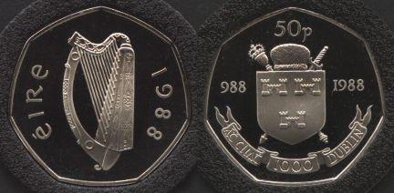 Dublin Millennium 50p