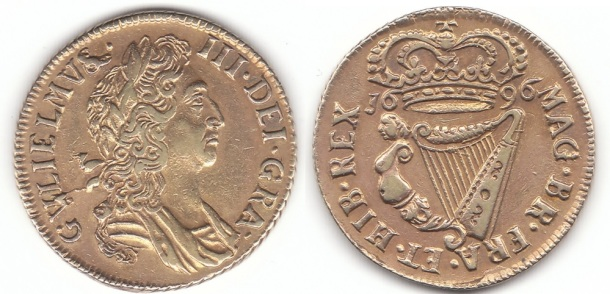 There are also 3 known examples of a silver-gilt proof halfpenny. It is not known whether the gilding was applied at the mint or if it was done later