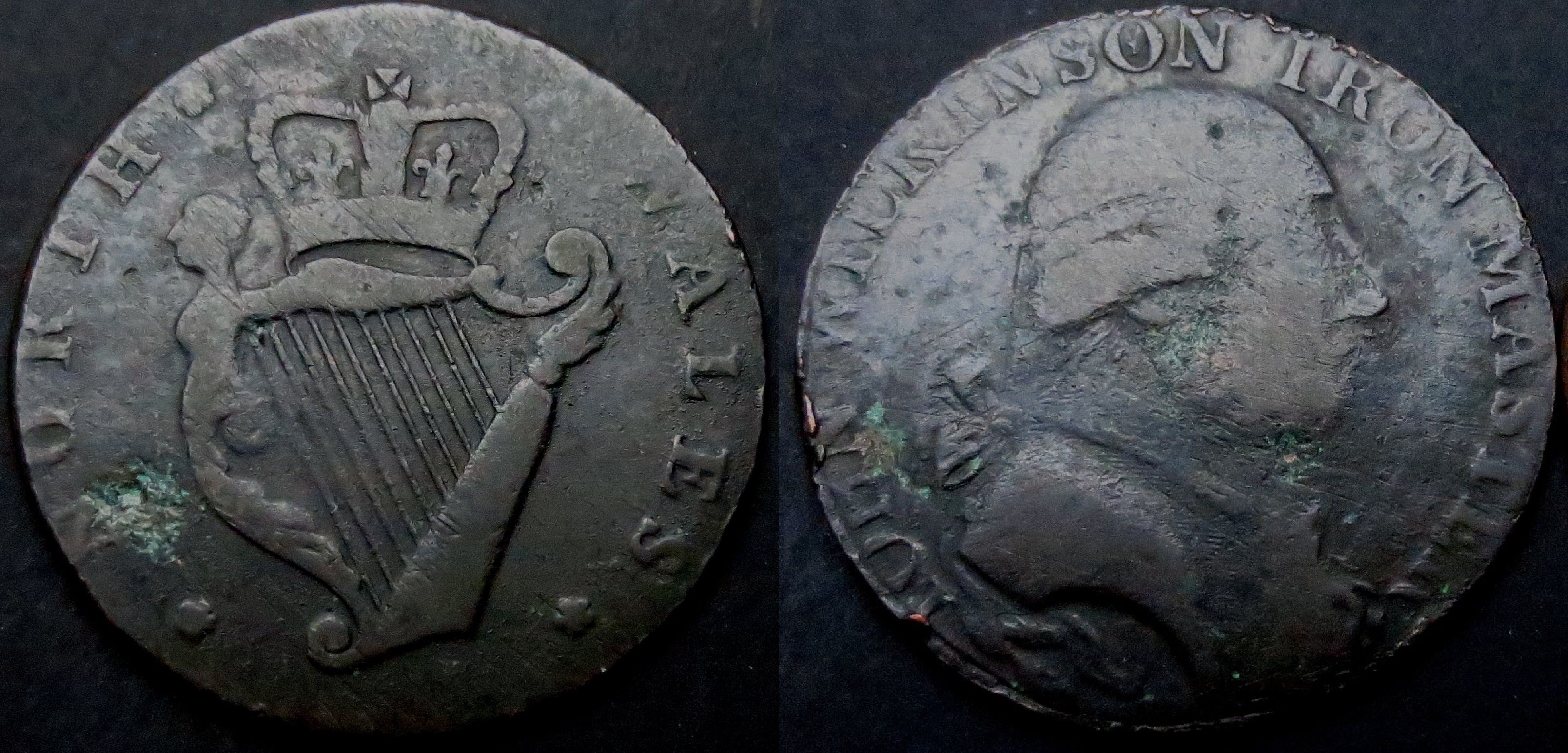 O'Brien Coin Guide: Irish Evasion Halfpennies (1770s to the 1790s